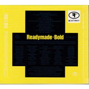 READYMADE: BOLD (CD)